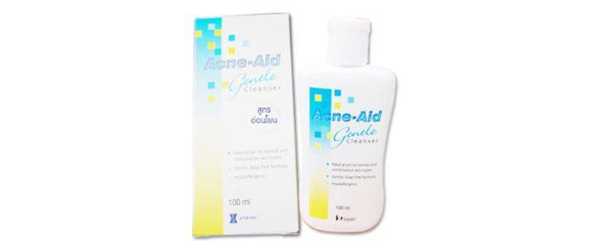 รีวิว Acne-Aid : สบู่เหลวล้างหน้า Gentle Cleanser